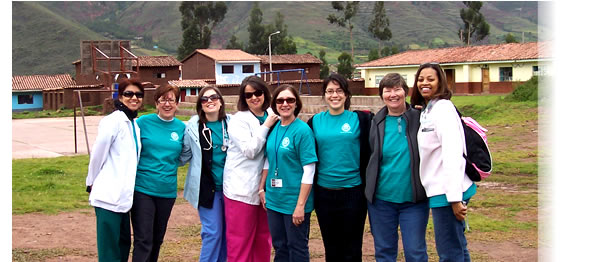 Three Family Nurse Practitioner and two Doctor of Nursing Practice students from the Medical College of Georgia are getting ready to perform health screenings and gynecological exams in a school for a rural community in Cusco, Peru.